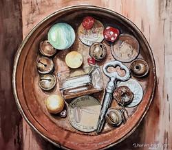 tin treasures watercolor