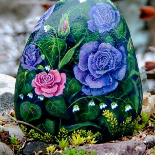 handpainted rock,butterflies,flowers,your choice
