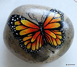 yellow butterflies,original art for sale,paintings of butterfies,hand painted rocks,butterflies