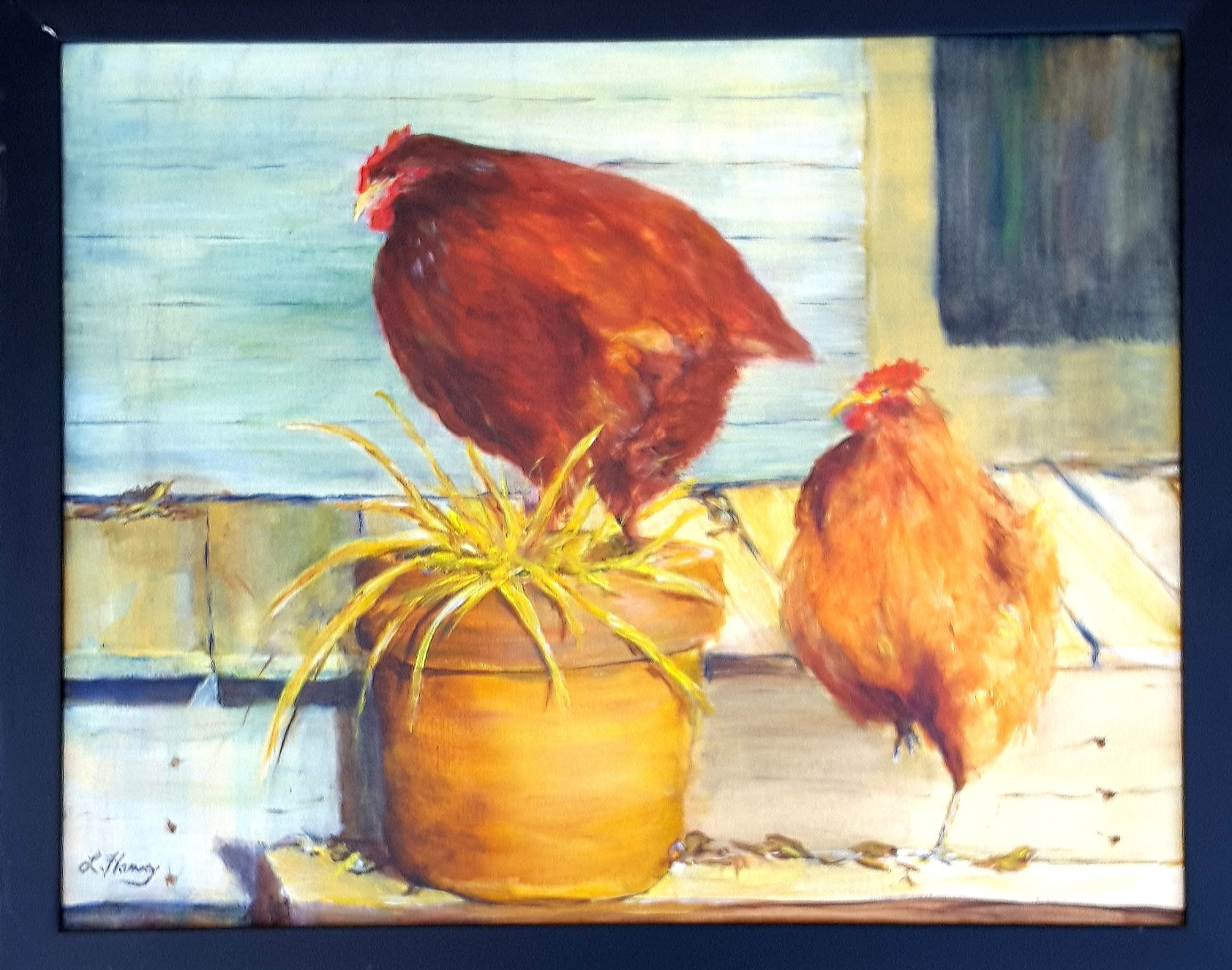 chickens by Leah Harvey