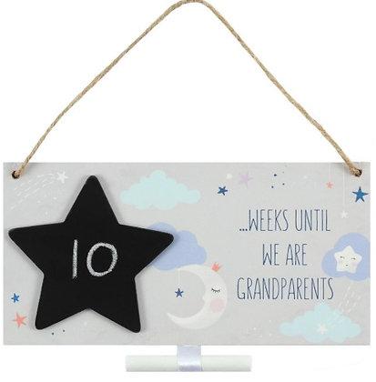 Grandparents Countdown Plaque