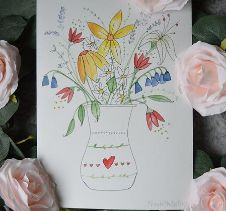 Flowers Print (For Gift Box)