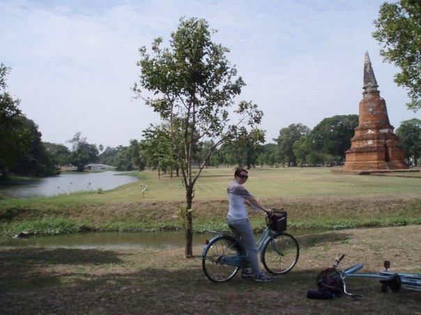Ayutthaya, Thailand,. Riding On my Bike
