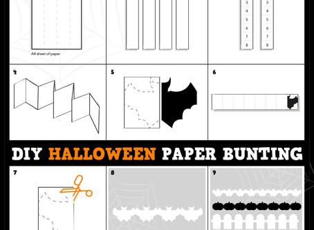 DIY Halloween Paper Bunting