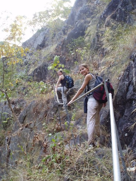 Mountain Trekking, Thailand, My Friend and I