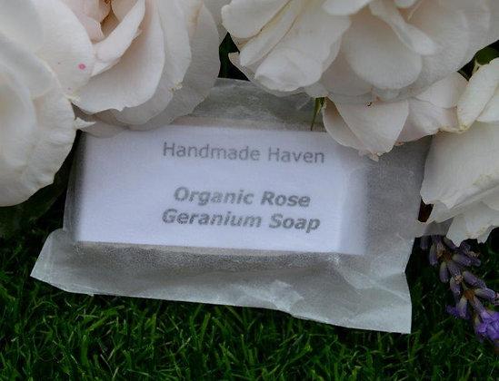 Organic Rose Geranium Soap