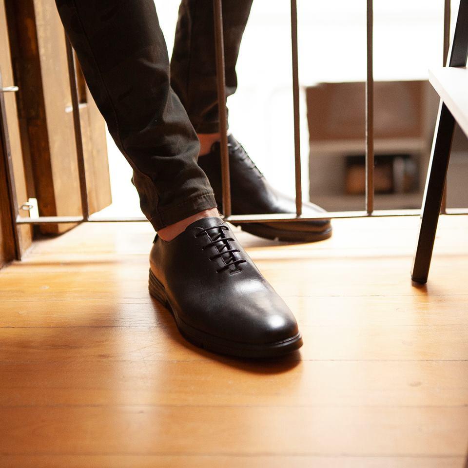 Sapato Social Masculino Derby Patton Preto - Villione