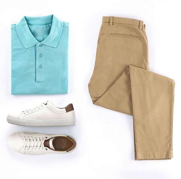 Para quem gosta de um look de verão mais arrumadinho, a tendência é usar a camisa por dentro da calça ou do short. Detalhe: Sneaker Blunt White Villione
