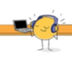 grapefruit listening to music