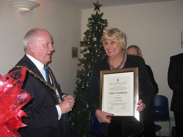 Annie Northfield receives Freedom of Wit
