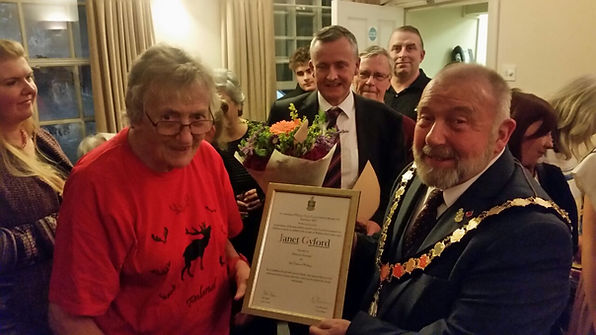 Janet Gyford receives the Freedom of Wit
