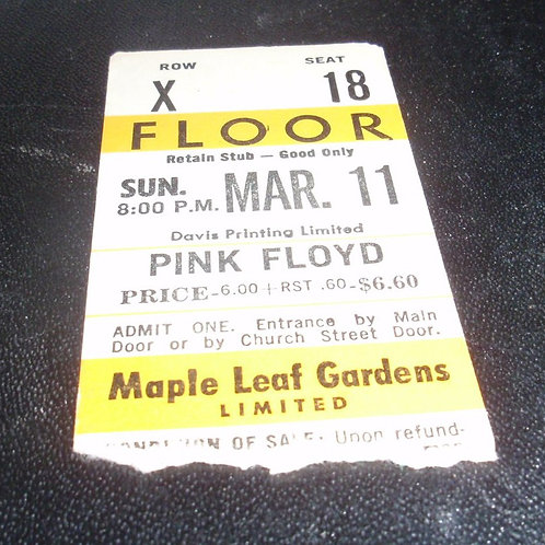 PINK FLOYD DARK SIDE OF THE MOON CONCERT TOUR STUB