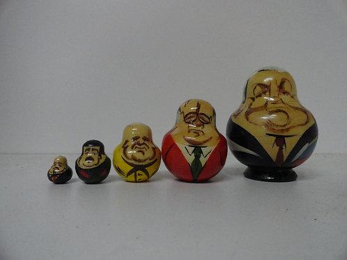RUSSIAN PRESIDENTIAL LEADERS NESTING DOLLS