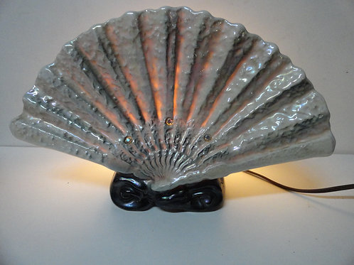 VINTAGE 1950's SCALLOP SHELL TV LAMP
