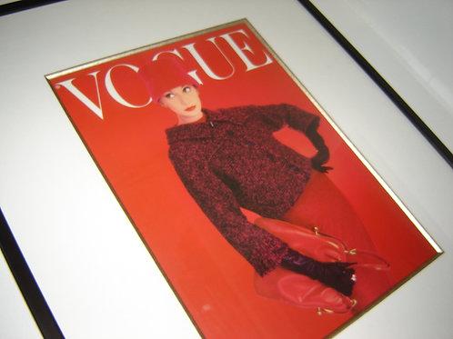 VOGUE VOGUE VOGUE LARGE FRAMED MOD 1960's COVER