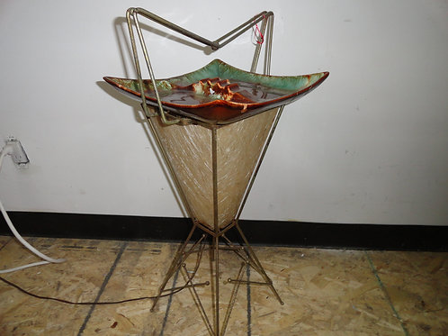 RETRO ASHTRAY & LAMP COMBO ON STAND
