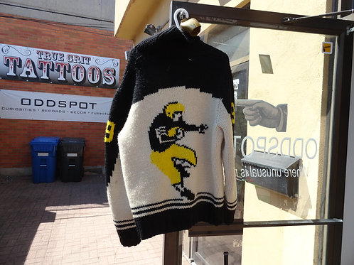 VINTAGE 1950's KNIT FOOTBALL SWEATER TIGERCATS / STEELERS