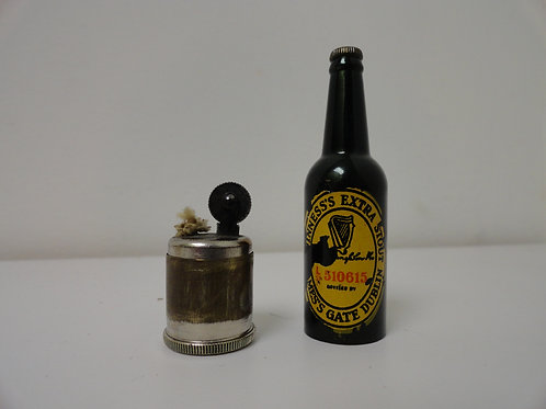 "MINIATURE 2.5"" GUINNESS BEER BOTTLE LIGHTER"