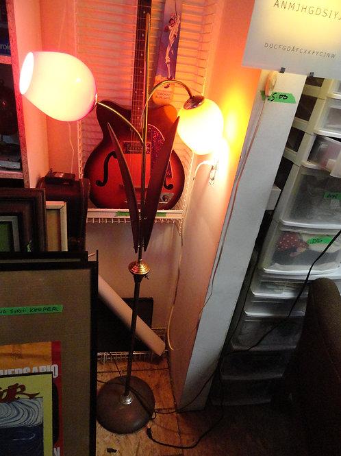 MID-CENTURY MODERN FLOOR LAMP TEAK / WALNUT?