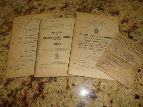 Collection of Canadian Military Ephemera