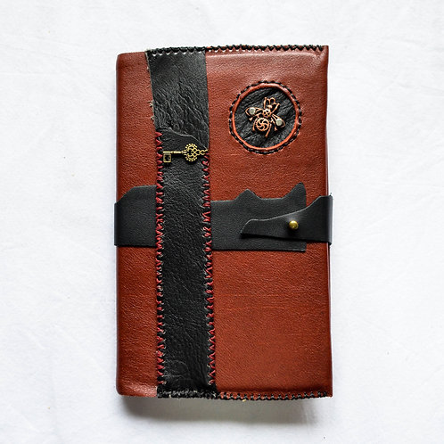 Leather Bound Journal ~ LadyBug