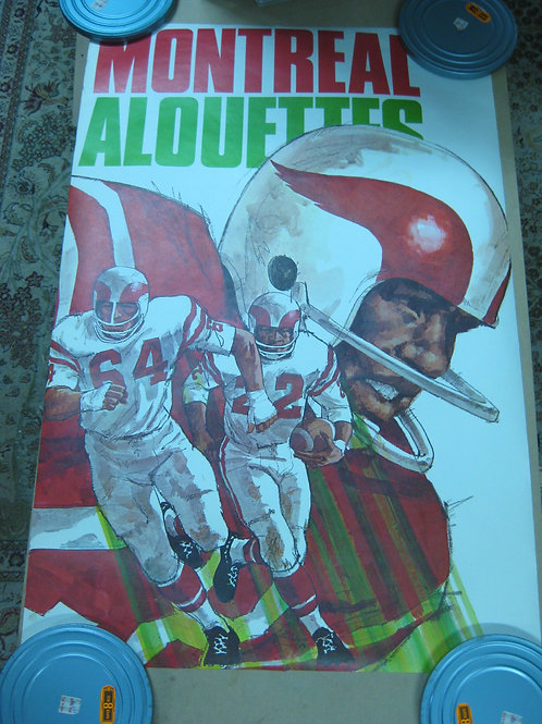 MONTREAL ALOUETTES VINTAGE CFL FOOTBALL TEAM POSTER -