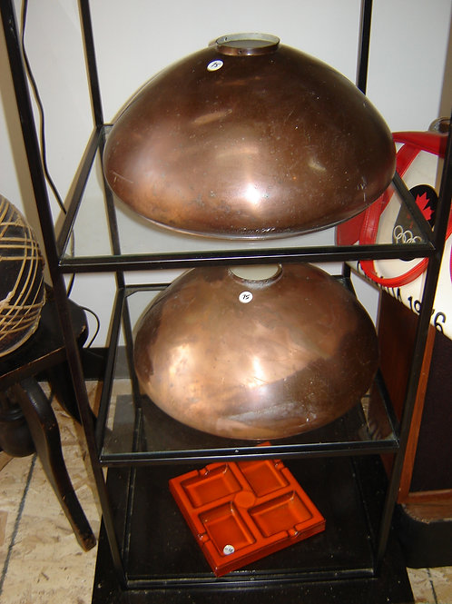 INDUSTRIAL COPPER LIGHT SHADES FIXTURES