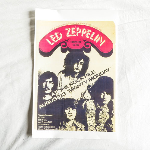 LED ZEPPELIN 1st Toronto Concert Flyer