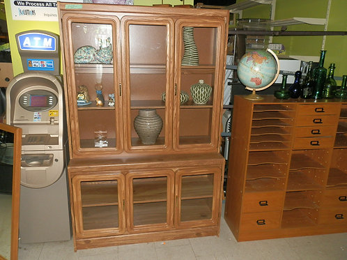 St. Catharines - Pallister Hutch Display Cabinet Glass Doors