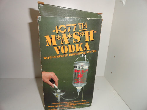 Vintage M*A*S*H MASH 4077th Vodka Dispensing System Dispenser with Box