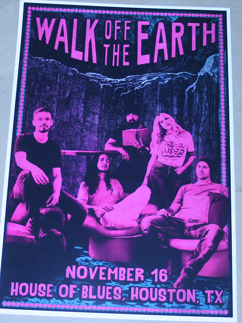 WALK OFF THE EARTH - NOV. 16 CONCERT POSTER style b