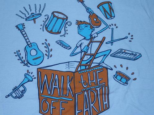 WALK OFF THE EARTH -MUSIC BOX Beige T-SHIRT XL