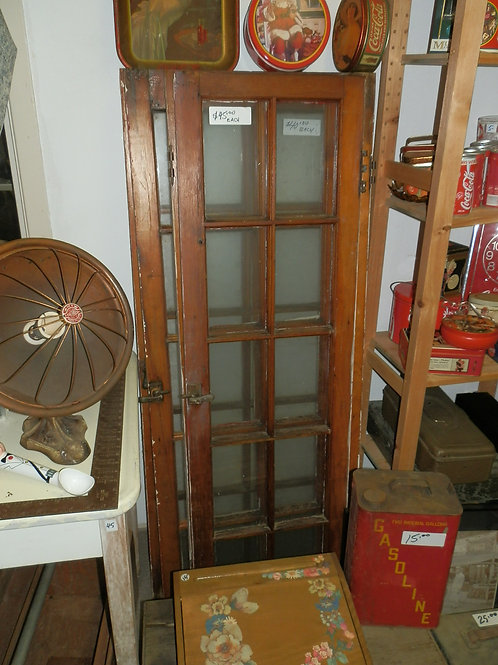 ANTIQUE 10 PANE WINDOWS WITH HARDWARE