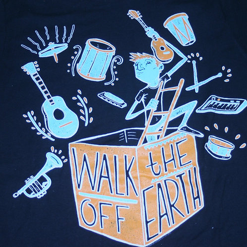 WALK OFF THE EARTH -MUSIC BOX Black T-SHIRT