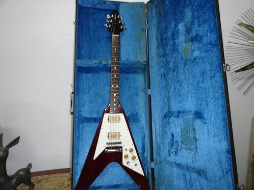 El Degas Flying V Electric Guitar