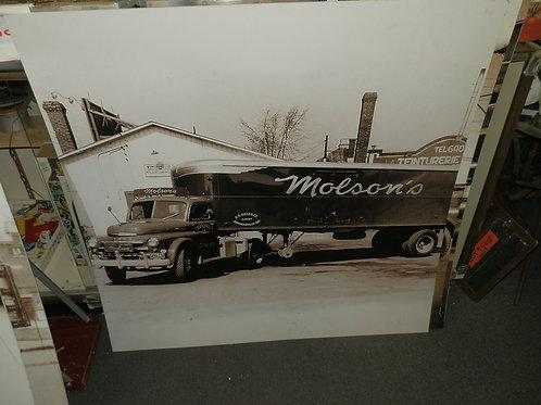 "44"" x 44"" MOLSON'S BEER VINTAGE PHOTOS ON BOARD"