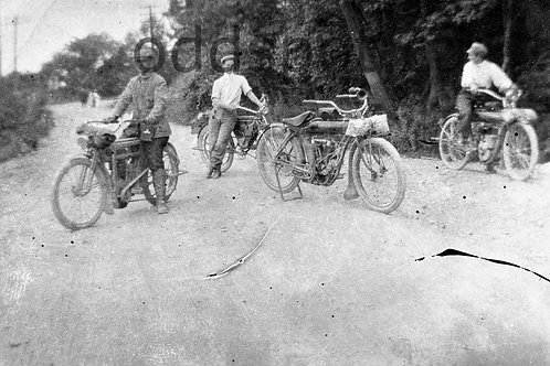 1900's INDIAN MOTORCYCLE Original Photographs