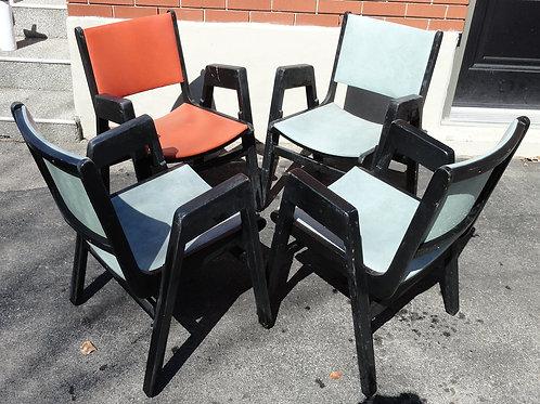 Four Retro Arm Chairs