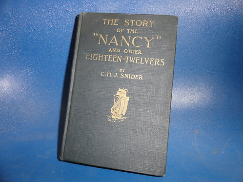 THE STORY OF THE NANCY - 1812 LAKE SHIPS