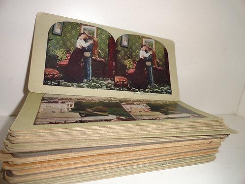 ANTIQUE STEREOSCOPE CARDS / SLIDES
