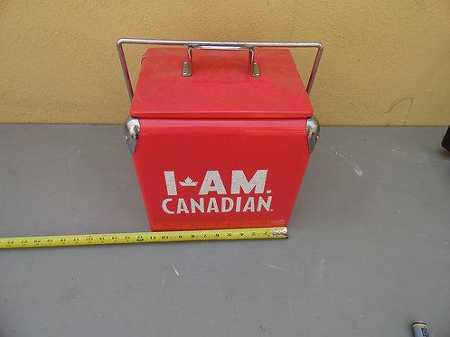 I AM CANADIAN MOLSON CANADIAN METAL COOLER