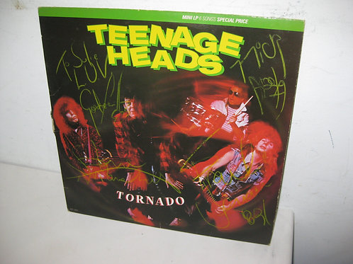 TEENAGE HEADS Mini EP TORNADO AUTOGRAPHED