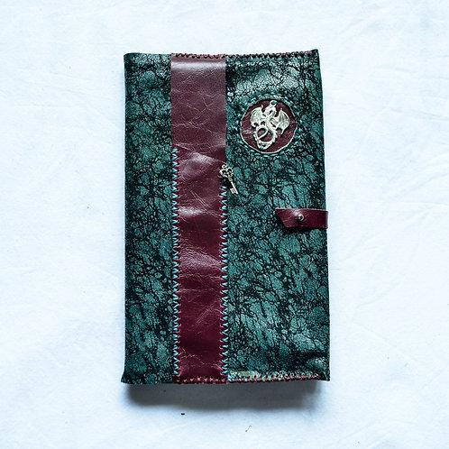 Leather Bound Journal ~ Dragon & Key