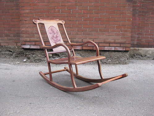 ANTIQUE CHINESE MOON GAZING ROCKING CHAIR