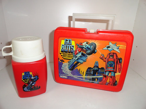 VINTAGE 1984 GO-BOTS TRANSFORMERS LUNCH BOX & THERMOS