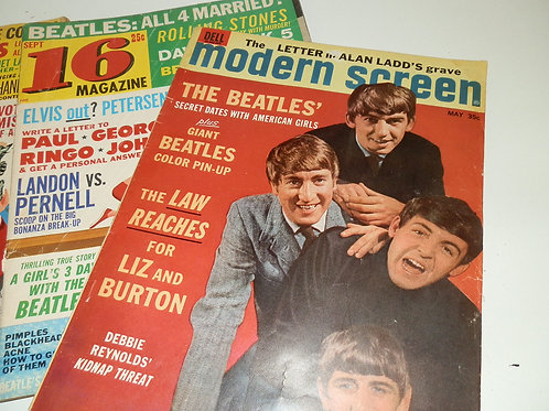 BEATLES RELATED 1960`s MAGAZINES