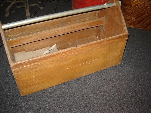 LARGER PRIMITIVE HANDYMAN WOOD TOOL BOX