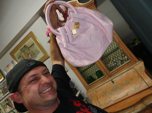 "PINK COCO-CHANEL ""INSPIRED"" PURSE modeled by Craig"