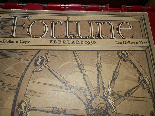 ISSUE #1 FORTUNE MAGAZINE FEBRUARY 1930