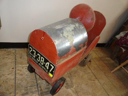 1960's HAND-MADE WOOD PUSH CAR